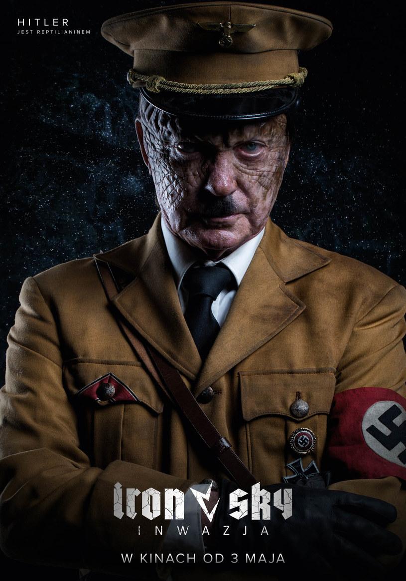 """Światowi przywódcy i wielcy historyczni zbrodniarze to kosmiczne jaszczury? Najbardziej nieprawdopodobne teorie spiskowe nareszcie ujrzą światło dzienne w """"Iron Sky. Inwazja""""! Kontynuacja kultowej produkcji science-fiction w kinach od 3 maja"""