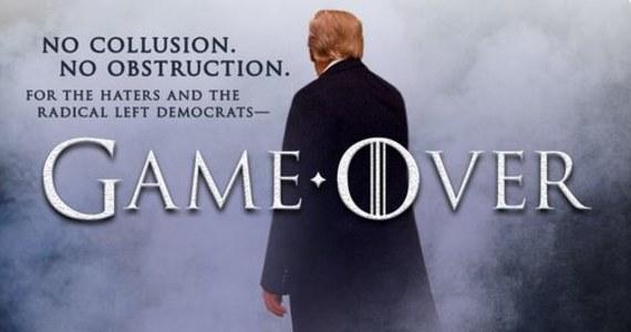 """""""Żadnego utrudniania! Koniec gry, ponowie nienawistnicy i radykalnie lewicowi demokraci!"""" - napisał na Twitterze Donald Trump po opublikowaniu raportu specjalnego prokuratora Roberta Muellera ws. domniemanych związków przedstawicieli jego sztabu z Kremlem."""