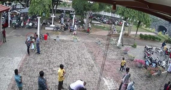 Lankijskie media udostępniły wideo z mężczyzną, który może być sprawcą zamachu kościoła św. Sebastiana w Negombo.