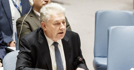 Cel Rosji jest całkiem jasny: destabilizacja Ukrainy, zwłaszcza w okresie powyborczym, oraz unicestwienie porozumień mińskich - powiedział podczas czwartkowego posiedzenia Rady Bezpieczeństwa ambasador Ukrainy przy ONZ Wołodymyr Jelczenko.