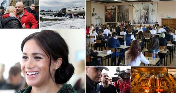 W poniedziałek w Polsce rozpoczął się maturalny maraton. Absolwenci szkół średnich zmierzyli się na początek z egzaminem z języka polskiego. Niestety, nie obyło się bez kłopotów. W niektórych placówkach rozpoczęcie matur było opóźnione, ze względu na fałszywe alarmy bombowe. ArcelorMittal Poland ogłosił, że planuje tymczasowo wstrzymać pracę części surowcowej w krakowskiej hucie, czyli wielkiego pieca i stalowni. Zamknięcie ma nastąpić we wrześniu i nie wiadomo, jak długo potrwa. Cały świat za to żył narodzinami kolejnego royal baby. Księżna Sussex Meghan Markle urodziła syna. Chłopiec przyszedł na świat o godzinie 6:26 rano polskiego czasu. Zebraliśmy dla Was najważniejsze informacje poniedziałku!