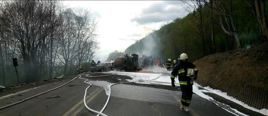 """6 osób zostało poszkodowanych w groźnym wypadku w Lipowicy na krajowej """"19"""" między Duklą i Barwinkiem na Podkarpaciu. Informację dostaliśmy od pana Wojciecha na Gorącą Linię RMF FM."""