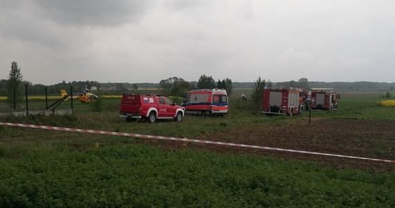 Wypadek śmigłowca w Sokołowie Podlaskim. Jak dowiedział się nasz dziennikarz, maszyna rozbiła się na obrzeżach miasta.