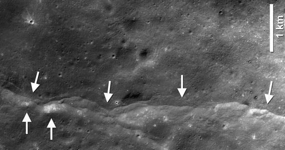 """Księżyc pozostaje tektonicznie aktywny, jego wstrząsy są wynikiem - i dowodem - kurczenia się naszego naturalnego satelity. Takie wnioski, na podstawie analizy wyników pomiarów instrumentów misji Apollo i Lunar Reconnaissance Orbiter (LRO), publikują na łamach czasopisma """"Nature Geoscience"""" związani z NASA naukowcy. Nowoczesne metody analizy danych z dwóch różnych okresów badań Srebrnego Globu pokazały, że do trzęsień dochodzi w rejonach widocznych z orbity uskoków tektonicznych."""