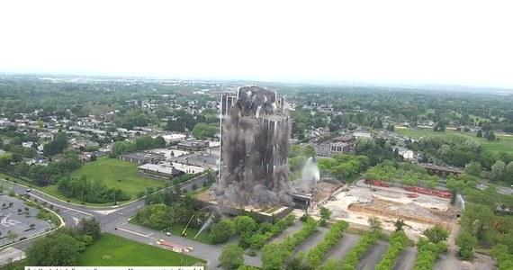 Bethlehem, Pensylwania, USA. W Bethlehem w stanie Pensylwania wyburzono dawną siedzibę koncernu stalowego Bethlehem Steel Corporation. Wieżowiec, który był najwyższym budynkiem w strefie przemysłowej Lehigh Valley, stał pusty od 2007 roku.