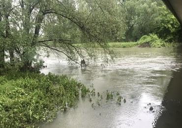 Wisła w Jawiszowicach ma już 6 m głębokości. Synoptycy zapowiadają ulewy