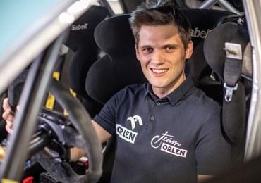 Kacper Wróblewski testuje nowe auto przed Rajdem Nadwiślańskim