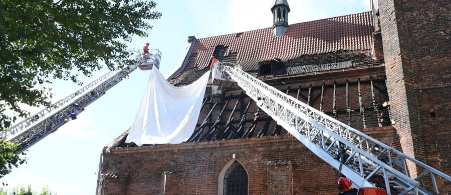Prezydent Gdańska Aleksandra Dulkiewicz zadeklarowała pomoc finansową dla kościoła św. Piotra i Pawła, który w niedzielę ucierpiał w pożarze. Ogień zniszczył dach nad zakrystią zabytkowej budowli.