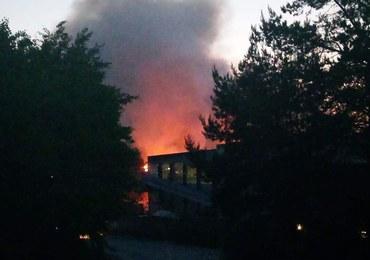 Pożar sortowni odpadów w Studziankach