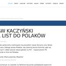 Kaczyński napisał list do pisowców.