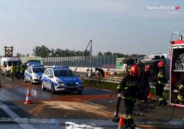 Seria wypadków rejonie Gliwic. Utrudnienia na A4 przez kilka godzin