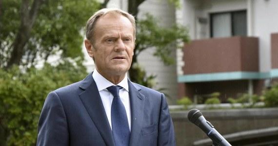 """Szef Rady Europejskiej Donald Tusk spotyka się w niedzielę przed szczytem UE w sprawie obsady stanowisk z przywódcami grup politycznych europarlamentu  - dowiedziała się nasza dziennikarka w Brukseli. """"Parlament Europejski ma przedstawić swoje stanowisko w sprawie wyboru szefa Komisji Europejskiej """" - usłyszała Katarzyna Szymańska-Borginon."""
