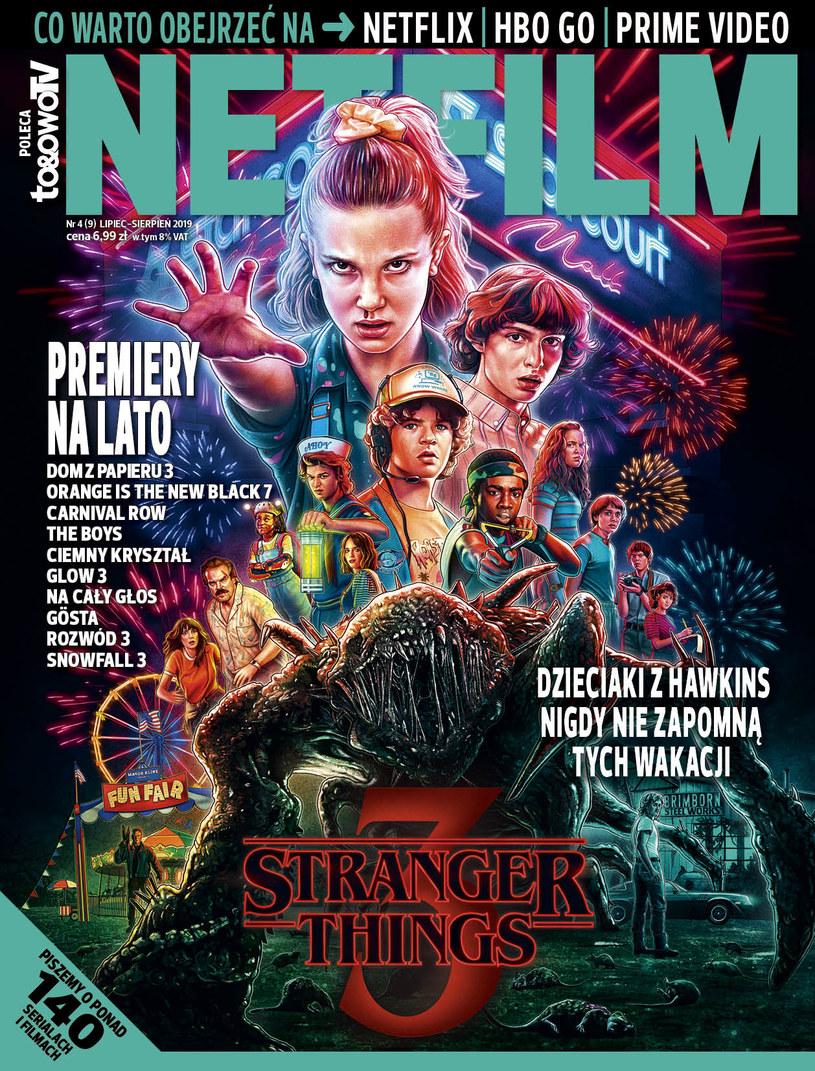 W dziewiątym numerze magazynu NETFILM (w sprzedaży od 2 lipca) znajdziemy między innymi recenzje i opisy ponad 140 filmów i seriali dostępnych w ofercie serwisów Netflix, HBO GO i Prime Video.