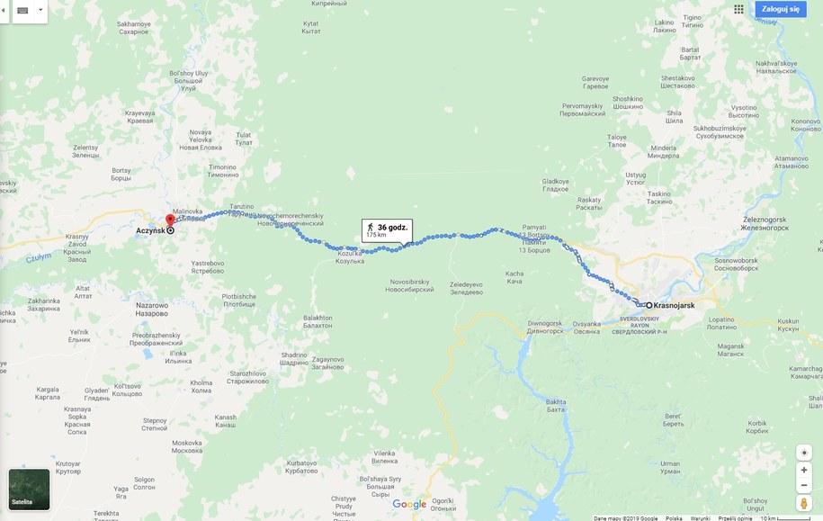 /Google Maps /Zrzut ekranu