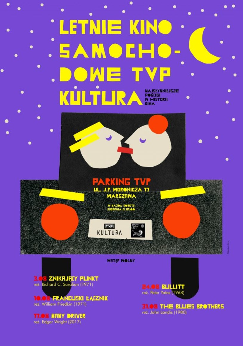W sobotnie wieczory, począwszy od 3 sierpnia, TVP Kultura zaprasza na wspólne oglądanie klasycznych filmów sensacyjnych. Seanse odbędą się na parkingu TVP na Woronicza w Warszawie. Jakie tytuły przygotowano dla widzów?