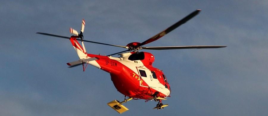 Do serii groźnych wypadków doszło w sobotę w Tatrach. Ratownicy kilkakrotnie przy pomocy śmigłowca transportowali rannych ze szczytów.