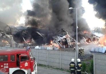 Śledztwo ws. pożaru w zakładzie przetwarzania odpadów w Myszkowie