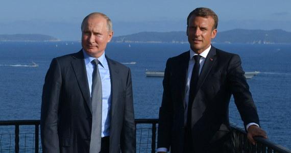 Prezydent Francji Emmanuel Macron oświadczył, że przywrócenie formatu G8 (G7+Rosja) bez rozwiązania sprawy Ukrainy byłoby błędem i podkreśliłoby słabość zachodnich sił.