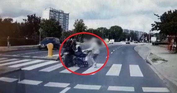 Do niebezpiecznego zdarzenia doszło w Lubinie. Motocyklista uderzył w wózek z dzieckiem, który przez pasy dla pieszych prowadziła 78-letnia kobieta. Sprawca zbiegł.