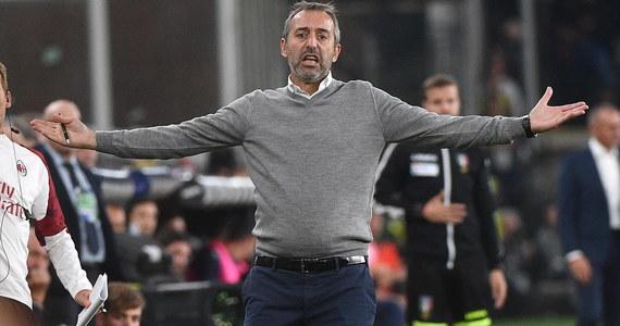 """Potwierdziły się nieoficjalne doniesienia włoskich dziennikarzy - AC Milan ogłosił, że zwolnił z funkcji pierwszego trenera Marco Giampaolo. Zawodnikiem """"Rossonerich"""" jest Krzysztof Piątek."""