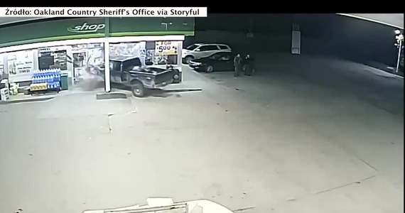 Dobra jakość kamer na stacji benzynowej w Ortonville, Michigan (USA) pozwoliła na zidentyfikowanie zuchwałego sprawcy wypadku. w zaledwie 13 godzin.