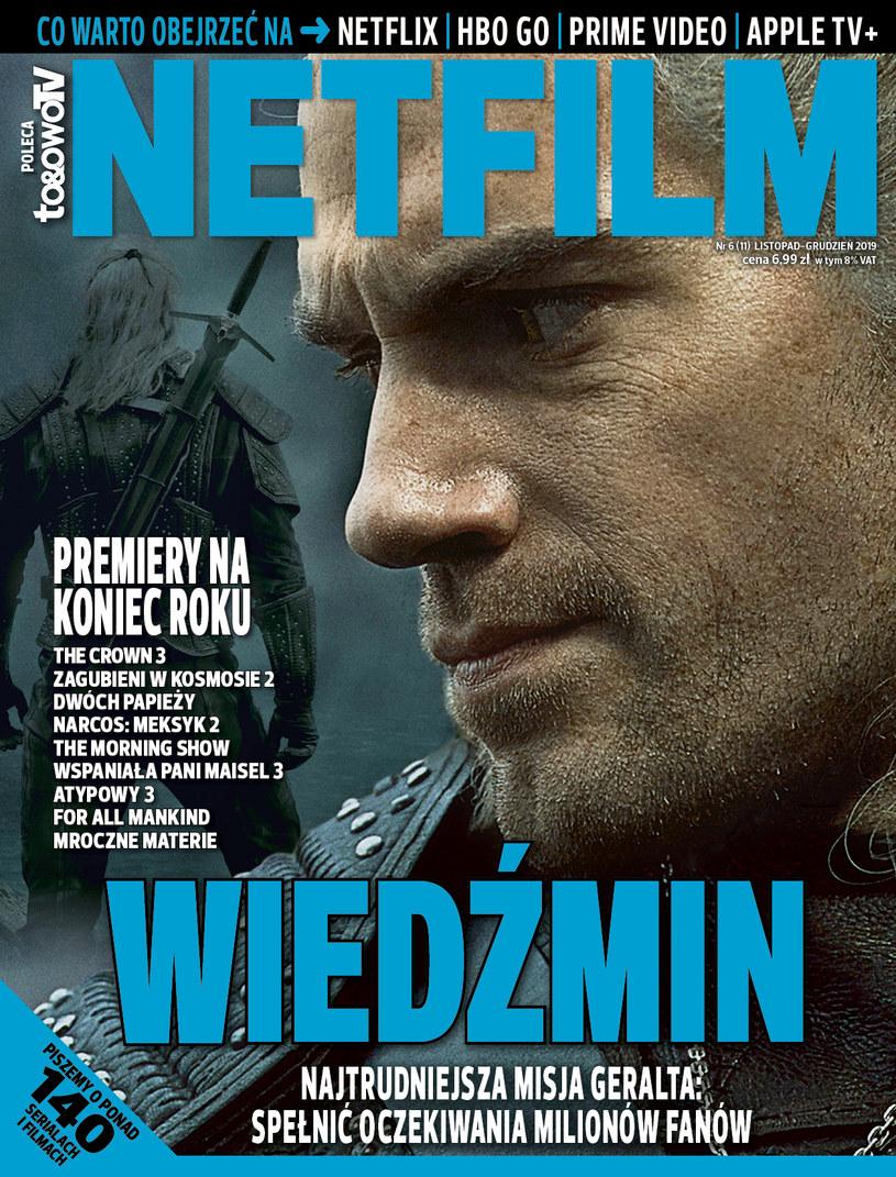 W jedenastym numerze magazynu NETFILM (w sprzedaży od 5 listopada) znajdziemy między innymi recenzje i opisy ponad 140 filmów i seriali dostępnych w ofercie serwisów Netflix, HBO GO, Prime Video oraz - to nowość na rynku - Apple TV+.