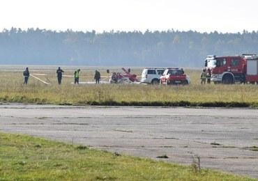 Wypadek na lotnisku w Kamieniu Śląskim. Samolot spadł tuż po oderwaniu się od ziemi