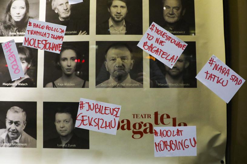 - Nie nam oceniać, czy zarzuty ws. dyrektora są słuszne; poprosiliśmy go, aby na czas ich wyjaśnienia nie pełnił funkcji - poinformowała we wtorek zastępczyni dyrektora ds. literackich i organizacyjnych Teatru Bagatela w Krakowie Renata Derejczyk.