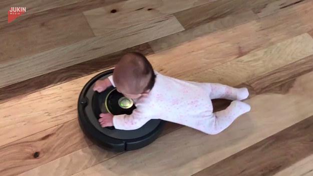 Odkurzający robot robi furorę w domach wielu rodzin. Ale takiego wykorzystania producenci chyba nie przewidzieli.