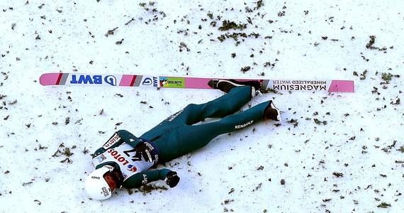 Niebezpieczny upadek podczas niedzielnego konkursu w Wiśle zaliczył Piotr Żyła. Po skoku na 119 metr Polak stracił równowagę i przewrócił się przy lądowaniu.