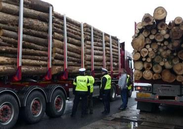 Transport drewna pod lupą. Rekordzista przeładowany o 11 ton