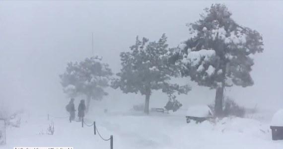 Przerwy w dostawach energii i nieprzejezdne drogi to skutek śnieżycy jaka przeszła w rejonie Wielkiego Kanionu w Arizonie. Władze tamtejszego Parku Narodowego ostrzegają mieszkańców i turystów przed złymi warunkami – silnym wiatrem i obfitymi opadami śniegu. W apelu zamieszczonym na Twitterze radzą, by zostać w domu jeśli to możliwe.