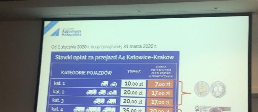 Będą nowe opłaty za przejazd autostradą A4 Katowice-Kraków. Ale tym razem nie chodzi o podwyżkę. Przeciwnie - kierowcy korzystający z tzw. automatycznych metod pobierania opłat zapłacą mniej. Nowe stawki zaczną obowiązywać od 1 stycznia przyszłego roku i tak będzie do końca marca. Zmniejszenie opłaty zależy od tego, jakim samochodem pojedziemy.