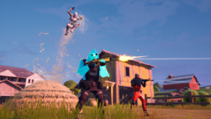 TIE Fightery i scena na Risky Reels w Fortnite