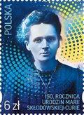 Specjalny znaczek Poczty Polskiej w 150. rocznicę urodzin Marii Skłodowskiej-Curie