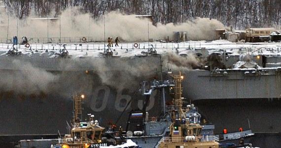 """95 miliardów rubli, czyli około 1,5 miliarda dolarów - na tyle oszacowano straty po pożarze jedynego rosyjskiego lotniskowca. """"Admirał Kuzniecow"""" jest remontowany w Murmańsku. Straty wynoszą tyle, ile koszt nowego okrętu."""