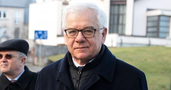 Minister spraw zagranicznych Jacek Czaputowicz poruszył w Brukseli podczas spotkania ministerialnego Międzynarodowego Sojuszu na rzecz Pamięci o Holokauście (IRHA) kwestię wypowiedzi prezydenta Rosji Władimira Putina na temat przyczyn II wojny światowej.
