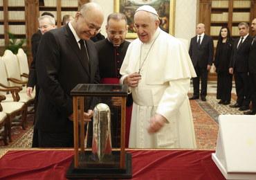 """Papież spotkał się z prezydentem Iraku. """"Niech pustynie staną się ogrodami"""""""