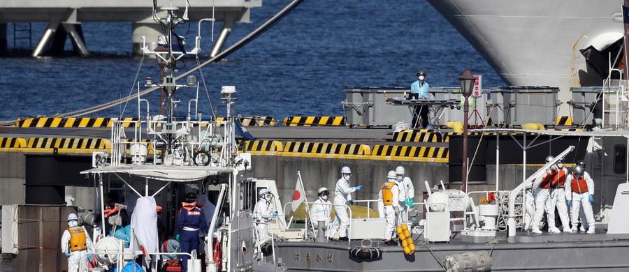 Co najmniej 10 przypadków zarażenia koronawirusem wykryto wśród pasażerów wycieczkowca zacumowanego w japońskim porcie Jokohama. Na pokładzie jest w sumie 3711 osób. Zostaną poddane kwarantannie.