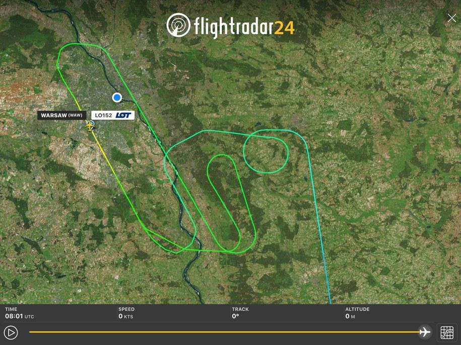 /Screen z portalu Flight Radar /