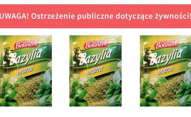 Główny Inspektorat Sanitarny wycofuje z rynku część partii bazylii suszonej sprzedawanej w torebkach. Powód to wykrycie w próbkach tego produktu bakterii Salmonella. Ta bakteria może wywoływać zatrucia pokarmowe.