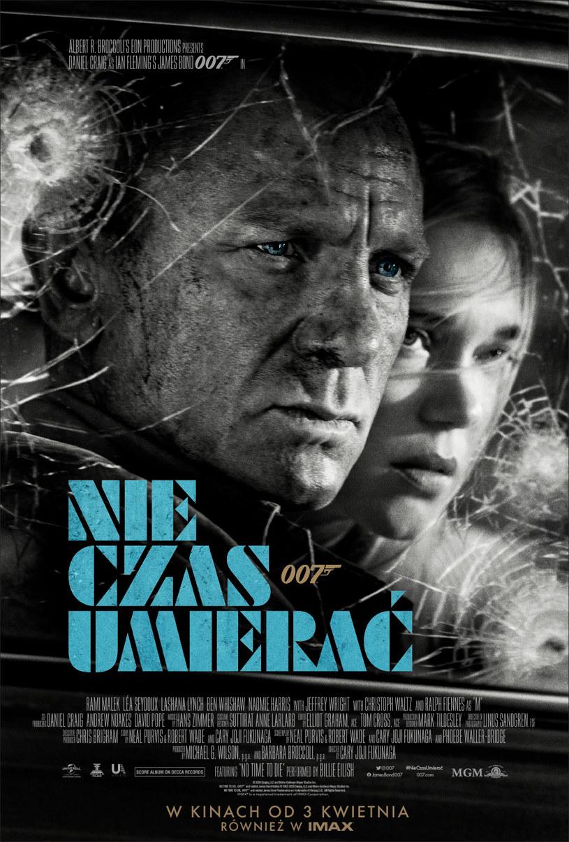 """Dystrybutor filmu """"Nie czas umierać"""" zaprezentował polski plakat 25. filmu o przygodach Jamesa Bonda. Obraz trafi na polskie ekrany 3 kwietnia."""