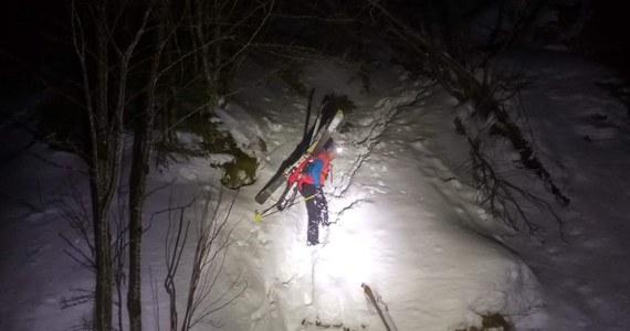 Słowaccy ratownicy w nocy z soboty na niedzielę przeprowadzili akcję ratunkową pod Krywaniem, gdzie utknęło dwóch polskich skialpinistów.