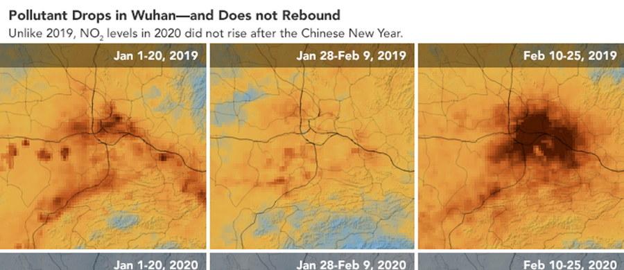 Zdjęcia satelitarne udostępnione przez NASA pokazują gigantyczną poprawę jakości powietrza w Chinach od momentu wybuchu epidemii koronawirusa.