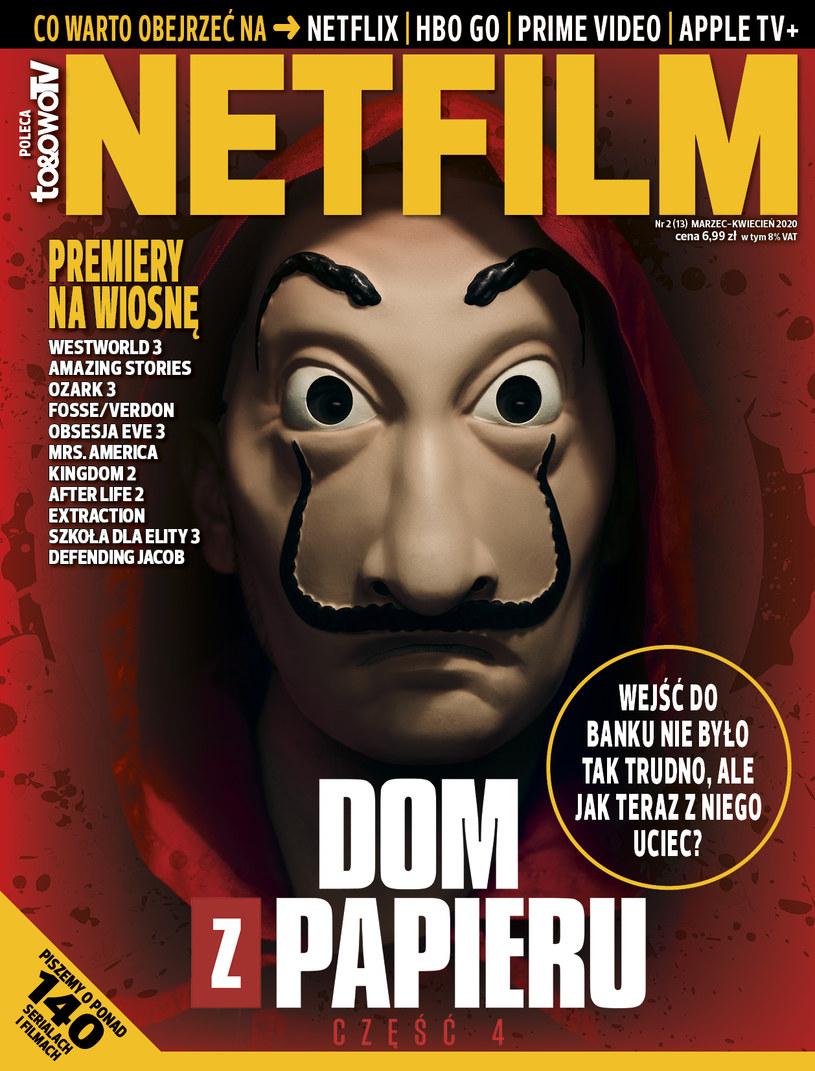 W drugim w 2020 roku numerze magazynu NETFILM (w sprzedaży od 3 marca) znajdziecie recenzje i opisy ponad 140 filmów i seriali dostępnych w ofercie Netfliksa, HBO GO, Amazon Prime Video i Apple TV+.