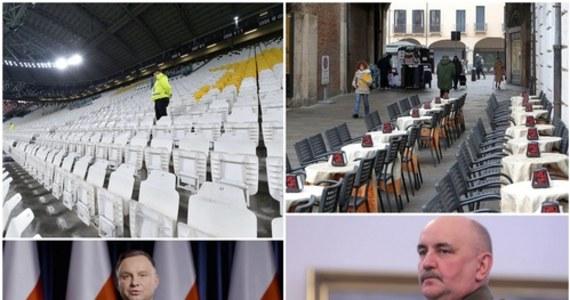 """W Polsce odnotowano już 22 przypadki koronawirusa. Premier Mateusz Morawiecki ogłosił we wtorek decyzję o odwołaniu wszystkich imprez masowych. Wieczorem prezydent Andrzej Duda wygłosił orędzie. """"Podejmowane są konieczne, zdecydowane działania, które mają jak najskuteczniej chronić Polaków"""" - mówił. Do 631 wzrosła we Włoszech liczba zmarłych zakażonych koronawirusem. Oto nasze podsumowanie najważniejszych informacji dnia!"""