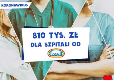 Koral przekaże ponad 800 tys. zł dla szpitali w Małopolsce i na Podkarpaciu