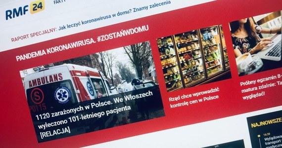 """W trudnych czasach epidemii Polacy coraz częściej szukają wiarygodnych informacji. Na RMF24.pl i w Faktach RMF FM podajemy wyłącznie sprawdzone informacje, dementujemy plotki - co zostało docenione przez internautów. Według badania Data Science i Publicis Groupe, """"za najbardziej wiarygodny serwis informacyjny uważany jest portal RMF24.pl."""