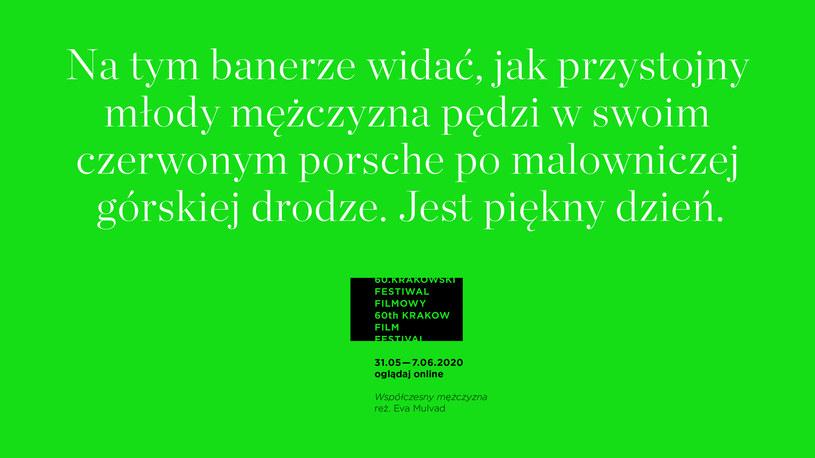 Dokładnie za dwa miesiące, 31 maja rozpocznie się jubileuszowy 60. Krakowski Festiwal Filmowy. Podobnie jak dwa inne prestiżowe festiwale europejskie CPH:DOX w Kopenhadze i Visions du Réel w Nyon, program Krakowskiego Festiwalu Filmowego zostanie w całości przeniesiony do sieci! Najnowsze filmy dokumentalne, animowane i krótkie fabuły ze świata, oczekiwane polskie premiery, a także spotkania z twórcami będą dostępne bez wychodzenia z domu.