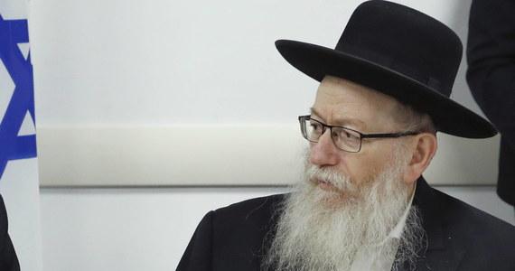 Izraelski minister zdrowia Jaakow Licman został zainfekowany koronawirusem - poinformowały w komunikacie wydanym w nocy ze środy na czwartek izraelskie władze.